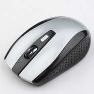 Neewer 2.4G Wireless USB Optical Mouse PC Laptop w/ Mini Receiver Black and Silver