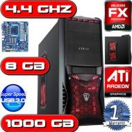 OCHW Home, Office, Gaming PC COMPUTER, Multimedia, Desktop, HOME, PC, Computer, 4.4GHz AMD FX 4170 QUAD CORE BULLDOZER CPU, 2GB ATI Radeon HD 6670 Gra