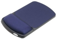 """Fellowes Gel Wrist Rest and Mouse Rest - Sapphire/Black - 0.9"""" x 6.3"""" x 10.1"""" - Sapphire 98741"""