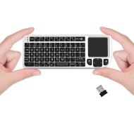 FAVI Entertainment FE01-WH Mini 2.4GHz Wireless Keyboard Touchpad with Laser Pointer (White)