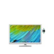 Sharp LC-24DHF4011KW, 24 inch, HD Ready, Freeview HD, TV with DVD Player - White