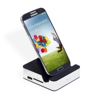 LEICKE CleverDock - Docking Station for Samsung Galaxy S4 | 3 x USB, HMDI, SD/SDHC Card Reader, Audio Output | backwards compatible with S3 & Note 2 |