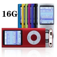 "G.G.Martinsen 16 GB Slim 1.78"" LCD Mp3 Mp4 Player Media/Music/Audio Player with accessories-Red Color"