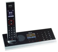 Swissvoice BTouch Cordless DECT Telephone with Answer Machine/Bluetooth and Touchpanel - Black/Silver