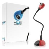 Hue HD USB webcam camera (red) with built-in mic for Windows & Mac - Skype, MSN, Yahoo, iChat