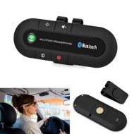 eSynic Latest-version Wireless Bluetooth Handsfree Car Kit - Multipoint Speakerphone - Bluetooth 3.0 for All Bluetooth Phone iPhone 5S Samsung Galaxy