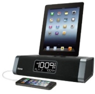 iHOME Stereo FM Clock Radio for iPhone & iPod iDN45 Black