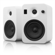 Kanto YUMIWHT YUMI Powered Speaker System with Integrated Bluetooth 4.0 Technology (Matte White, 2)
