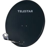 Telestar Digirapid 60 SAT-Spiegel (60 cm Aluminium-Spiegel, vormontierte Masthalterung, 40mm LNB-Halterung) schiefergrau