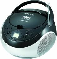 NAXA Electronics Portable MP3/CD Player with AM/FM Stereo Radio (Black)
