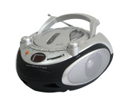 NAXA Electronics Portable CD Player and AM/FM Stereo Radio (Silver)