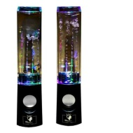 USB Powered Colorful LED Fountain Dancing Water Mini Music Speakers for MP3 /Mobile Phones /Computer (Black)