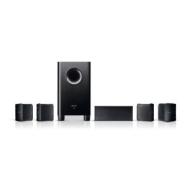 Compact 5.1 Speaker Set with Bookshelf Speakers in Black