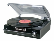 Steepletone ST926 3-Speed Record Player/ Turntable/ Black - Free Flip Over Stylus
