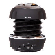 Decrescent Boom BTS-D125 Bluetooth Wireless Mini Capsule Speaker with 3.5mm Cable and Bass Xpansion System (Black)