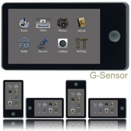 """Kubik Neo 8GB 3.0"""" Touch Screen MP3 with Video & YouTube Player + G-Sensor"""