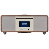 John Lewis Cello Hi-Fi Music System with DAB/DAB+/FM/Internet Radio, CD Player, Wi-Fi & Bluetooth, Walnut