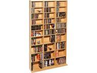 Atlantic Oskar Adjustable Multimedia Storage, 28 Shelves, Maple