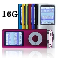 "G.G.Martinsen 16 GB Slim 1.78"" LCD Mp3 Mp4 Player Media/Music/Audio Player with accessories-Pink Color"