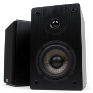Micca Motion Series MB42 Bookshelf Speakers With 4-Inch Carbon Fiber Woofer and Silk Dome Tweeter (Black, Pair)
