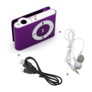 Mini Fashoin Clip Metal MP3 Music Player , Support 1 - 8GB SD Card (Red)