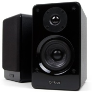 Micca Club 3 Bookshelf Speakers With 3.5-Inch Carbon Fiber Woofer and Silk Dome Tweeter (Black, Pair)