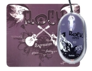 Saitek PM46rc Expression Notebook Mouse and Mouse Pad (Rock Chick)
