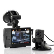 BW® 3.5 Inch Display HD 720p Dual Camera (forward and rear view) Car DVR video recorder S3000L