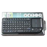 Rii 2.4GHz Wireless Mini PC Keyboard Touchpad V2 Black--UK Layout