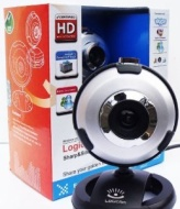Logicam HD Webcam - True HD USB Webcam, Built-in Microphone, Plug & Play Webcam, 6 LED lights, Plug and Play USB Web Camera which does not need any dr