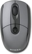 Dynex Wireless Optical USB Laptop Mouse - Silver