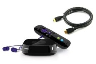 Roku 3 Streaming Media Player Bundle with High-Speed HDMI Cable (6 Feet / 1.8 meters)