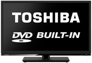 Toshiba 24D1533 24-Inch Widescreen HD LED TV with Built-In DVD Player and Freeview HD