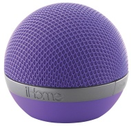 iHome Bluetooth Wireless Speaker (Purple)