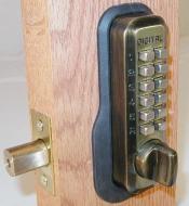 Lockey Digital M210 Mechanical Keyless Entry Bump Proof Deadbolt Door Lock Antique Brass Finish