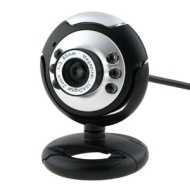Round Webcam with Microphone and LED light for Night Vision