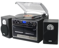 Steepletone SMC386r BT - 8 in 1 Music System NEW Model with Bluetooth* - 3 Speed Record Turntable - CD Player - FM & MW Radio - Playback & Encode RECO