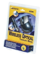 Memorex Wireless Optical Traveler - Mouse - optical - wireless - RF - USB wireless receiver