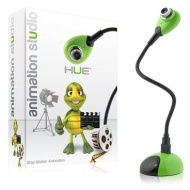 Hue Animation Studio for Windows PCs (Green): complete stop motion animation kit with camera