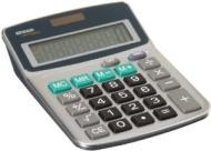 AmazonBasics - Calcolatrice a 8 cifre, doppia alimentazione, colore: Argento