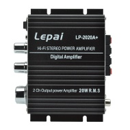 Lepai TA2020+ Tripath Class-T Hi-Fi Audio Mini Amplifier with UK Plug (Black)