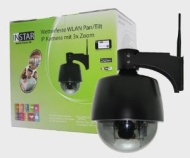GERMAN BRAND! INSTAR IN-4009 (black) Smallest controlable Pan Tilt WLAN IP Outdoor Camera with 3x optical Zoom and max. 8 preset Positions