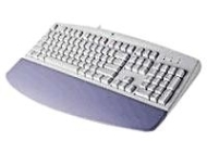 Logitech Deluxe - Keyboard - PS/2 - 104 keys - white - French - retail