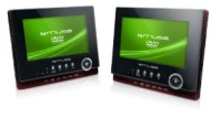 Muse M-762CVB Tragbarer DVD Player (LCD-Display, DVD-RW, 2 Bildschirm, SDHC, USB) inkl. 7 Zoll feste Halterung