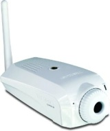 "TRENDnet ProView Wireless Internet Camera TV-IP501W - Network camera - color - 1/4"" - fixed focal - audio - 10/100, 802.11b, 802.11g - DC 5 V"