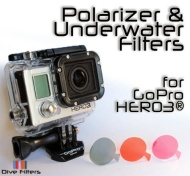 GoPro HERO3 Polarizer and Underwater Color Dive Filters Red & Magenta - 3 Pack