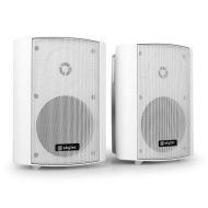 Pair Skytec 2-Way Commercial Speakers For Pubs & Bars Wall Mounted - White