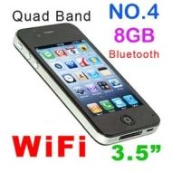 AIRPHONE NO4 (8GB) TOUCH SCREEN MOBILE PHONE GSM Quadband, Wi-Fi Java, Dual Sim Dual Standby, Camera, 3.5 inch HVGA Screen, 9.3 mm Thin Body, MP3 MP4
