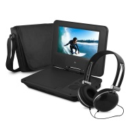 Ematic EPD707BL Portable 7-Inch DVD Player with Headphones and Bag (Black)