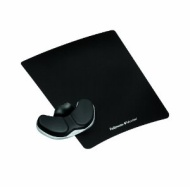 "Fellowes Gliding Palm Support with Microban Protection - 0.8"" x 9"" x 11"" - Black 8037501"